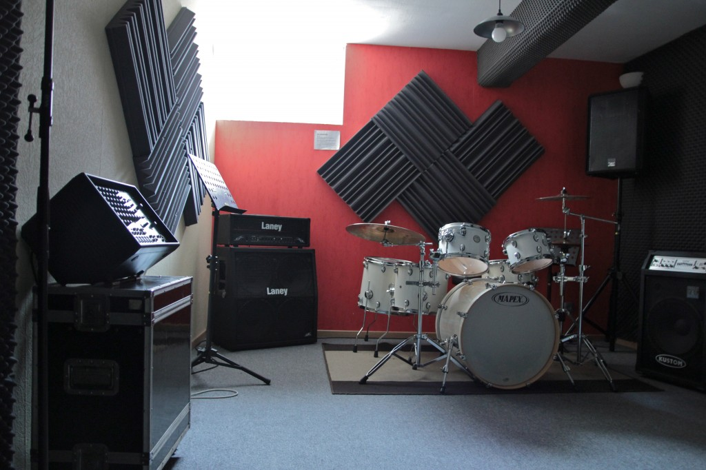Studio batterie blanche