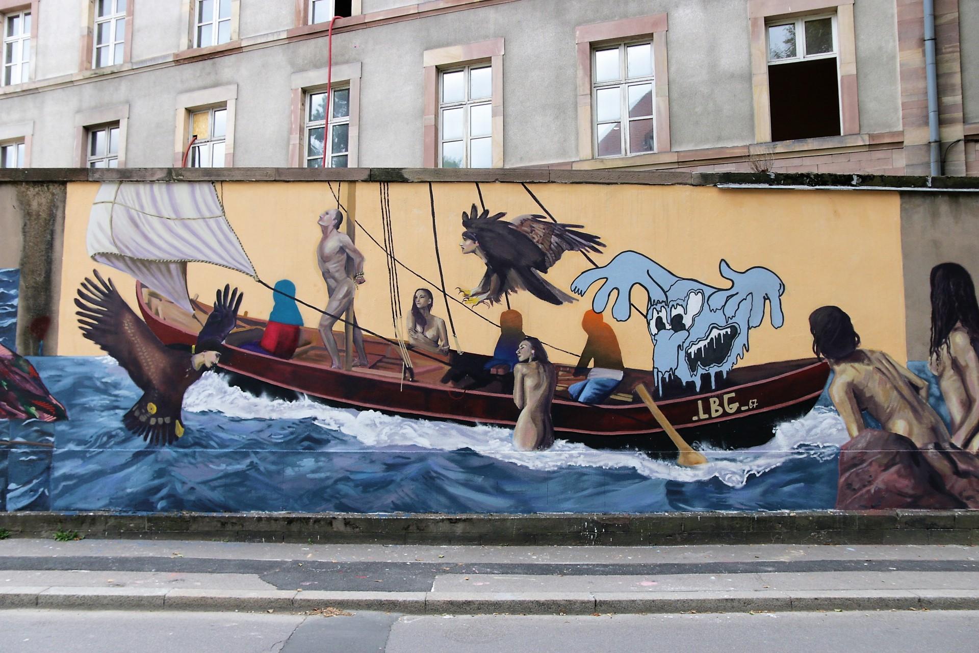 Peindre Une Fresque Sur Un Mur strasbourg : les murs de la manufacture s'habillent d'une