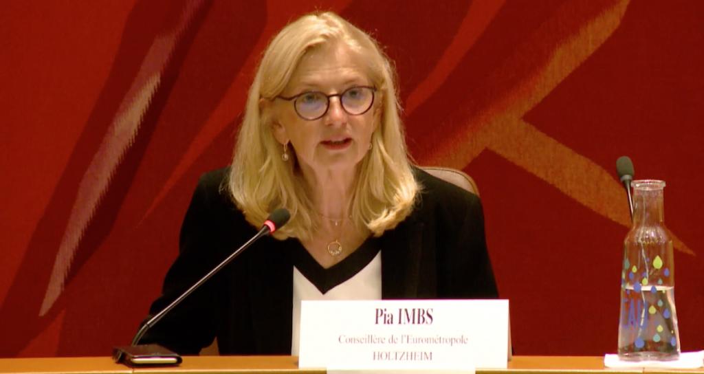 Pia Imbs, présidente de l'Eurométropole