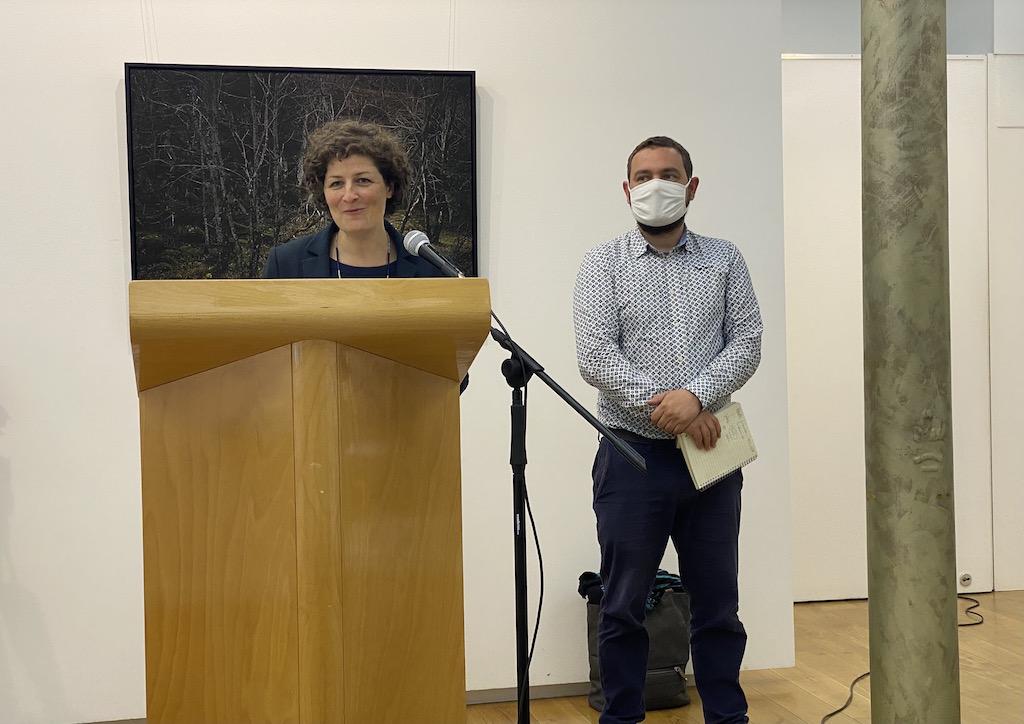 Jeanne Barseghian et Pierre Ozenne, adjoint en charge des voiries
