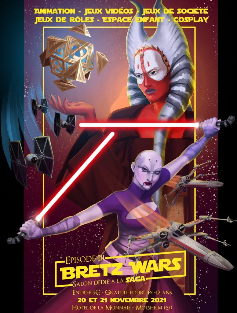 Affiche de Bretz'Wars 3 convention star wars
